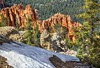 Snow along the Bristlecone Loop Trail, Bryce Canyon National Park Utah (PhotosToArtByMike) Tags: bristleconelooptrail rainbowpoint brycecanyonnationalpark hoodoos rockspires brycecanyon utah ut bryce snow forestedmountaintop bristleconeloop limestone erosion scenic canyon landscape