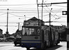 Retrospective (WT_fan06) Tags: trolleybus old bw blackandwhite blue line retro history historic nikon d3300 dslr art artsy photography aesthetic public transport transportation romania targu jiu artistic heritage communism monochrome contrast atmosphere downtown air sky wires poles street still frozen time city urban black white past troleibuz autumn october