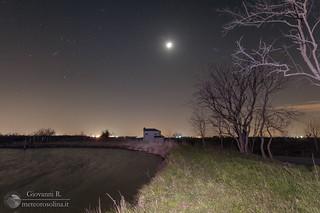 Orione, luna, pleiadi