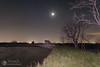 Orione, luna, pleiadi (Giovanni R. meteorosolina.it) Tags: rosolina delta del po veneto valli cielo stelle luna meteorosolina caleri moceniga chiesetta notte