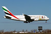 """A6-EUV, Airbus A380-842, Emirates (""""Year of Zayed 2018"""" livery). 100th Airbus A380 (freekblokzijl) Tags: airbusa380 a380842 emirates yearofzayed 2018 airbus landing arrival specialscheme 100tha380 dubai kaagbaan approach spring sunny sunshine wally dubbeldecker amsterdamairport schiphol luchthaven vliegtuigspotten planespotting canon eos7d 70200l28isusm"""