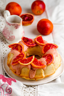BLOOD ORANGE POUND CAKE WITH AN ORANGE ZEST ICING