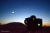 Nikon D3X exposure meter (mythicalireland) Tags: nikon d3x d750 camera cameras twilight moon crescent waxing venus mercury newgrange dusk shot photo tripod focus exposure meter light