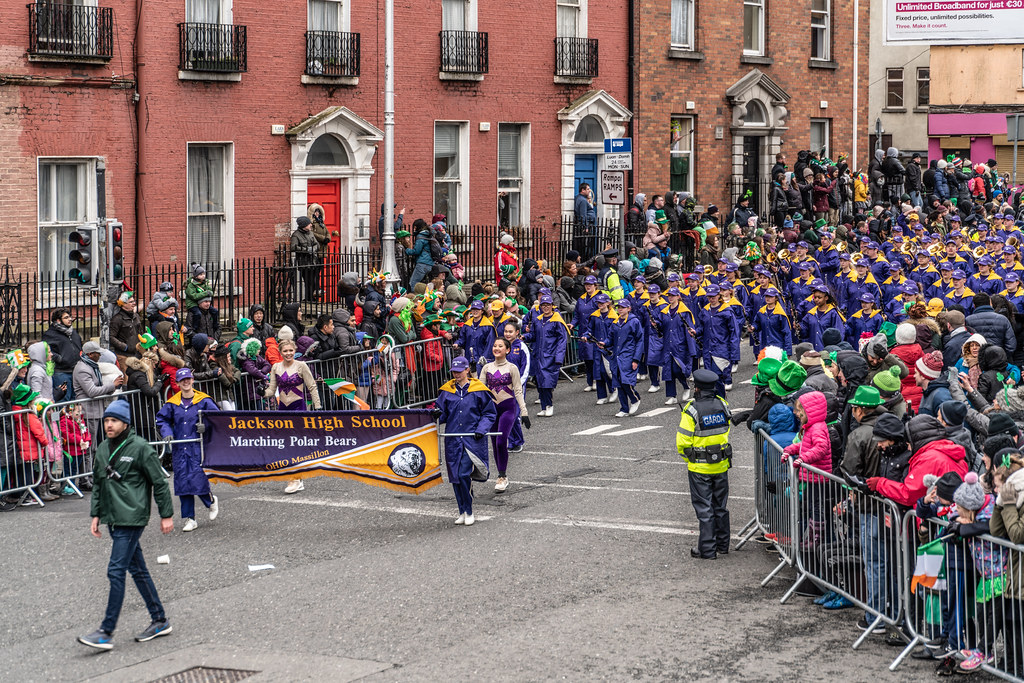Jackson High School - Purple Army Marching Band [Dublin Patricks Day Parade 2018]-137622