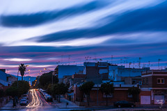Heterocromía del atardecer (amofer83) Tags: 2017 diciembre atardecer barrio calle coches exterior navidad street sunset vida cartagena regióndemurcia españa es