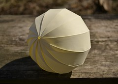 This Distracted Globe (oschene) Tags: origami globe loxodrome curvedsurface developable