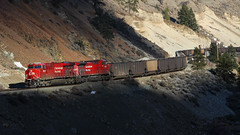 CP 8935 ~ Thompson River Canyon (Chris City) Tags: train railway railroad cpr canyon mainline westbound coal es44ac