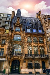 Paris France - Art Nouveau Architecture - Style (Onasill ~ Bill Badzo) Tags: paris france art nouveau architecture style moderne international mansard three floors attraction walking tour portico sculpture onasill europe sky clouds sunset modernism site mansion house building