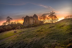 Palm Sunday Sunset (unciepaul) Tags: wadenhoe church sunset palm sunday lightroomhdr hdr blue sky clouds shadows highlights