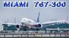 Windy Wet Runway Cool Landing (JustPlanes) Tags: windy wet runway bumpy turbulence boeing 767 lan airlines miami international airport landing