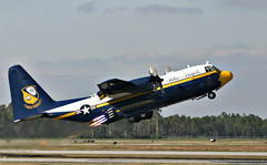 lockheed image (San Diego Air & Space Museum Archives) Tags: blueangles flightdemo airshow pensacola fa18af18 hornet marines c130 fatalbert jato takeoff formation homecoming jetassistedtakeoff rocketassistedtakeoff rato propellervortices propvortices vortices