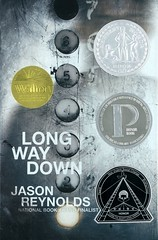 Long Way Down (Vernon Barford School Library) Tags: jasonreynolds jason reynolds realisticfiction realistic fiction brothers siblings revenge conductoflife ghoststories ghosts homicide murder shooting narrativepoetry poetry narrative novelsinverse verse africanamerican alternatingpointofview pointofview gunviolence vernon barford library libraries new recent book books read reading reads junior high middle school vernonbarford fictional novel novels hardcover hard cover hardcovers covers bookcover bookcovers 9781481438254 youngadult youngadultfiction ya