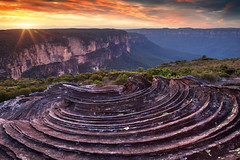 Clifftop Erosion || BLUE MOUNTAINS || AUSTRALIA (rhyspope) Tags: australia aussie nsw new south wales canon 5d mkii sunrise sunset grose valley rhys pope rhyspope sky clouds rocks sandstone erosion weather view vista