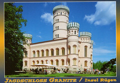 2001 Germany // Rad- + Wanderurlaub auf Rügen // Schloss Granitz (Postkarte) (maerzbecher-Deutschland zu Fuss) Tags: 2001 deutschland germany maerzbecher deutschlandzufuss deutschlandzufus rügen postkarte jagdschloss schloss castle granitz mecklenburgvorpommern