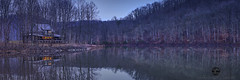 Cabin in the woods (Valley Imagery) Tags: stonewall jackson state park resort cabin dusk water dam lake west virginia panorama spring trees accomodation sony a99ii sigma 50mm