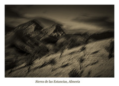 Sierra de las Estancias Mono ICM (Rupert Nicholson) Tags: icm monochrome landscape almeria spain almond trees mountains