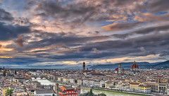 Florence Skyline Late Afternoon (Alan Amati) Tags: amati alanamati europe italy italia florence firenza tuscany sunset city overlook view clouds piazzale piazzalemichelangelo park michelangelo skyline spring afternoon lateafternoon late duomo palazzovecchio pontevecchio arnoriver arno river firenze topf25
