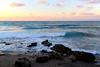 DSC_0594 (mimomeg) Tags: sea water waves wave shore blue sky sunset colors pink orange cloud clouds