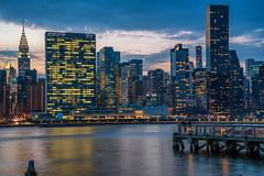 Down Time (writing with light 2422 (Not Pro)) Tags: gantrystatepark longisland newyork cityscape sunset bluehour chrystlertower dock fishing longexposure richborder sonya7 zeiss
