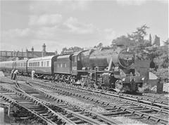London, Midland & Scottish Railway - LMS Class 8F 2-8-0 steam locomotive Nr. 8233 (North British Locomotive Works, Glasgow 24607 / 1940) (HISTORICAL RAILWAY IMAGES) Tags: br lms 8f steam locomotive 8233 stanier wd 70307 nbl glasgow explore