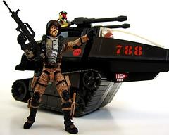 Major Bludd Attacks (decobray) Tags: gi joe cobra hiss tank sonic fighter viper custom marauder task force