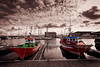 barcos bn (ampg69) Tags: coruña puerto barcos hdr galicia nikon d750 ncg
