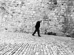 Decisive moment (dariaalex) Tags: bw walk street people stone oldcity jerusalem moment archeticture history iphonography digital