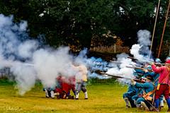 Fighting for the King (PhilR1000) Tags: reenactors civilwar earlriversregiment muskets guns gunsmoke fire sealedknot sonyflickraward shawhouse