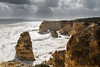 Praia da Marinha (Christian Hacker) Tags: praiadamarinha algarve portugal holiday travelphotography canon eos50d tamron 1750mm beach cove coast coastal sea ocean atlantic wild stormy rough crashing waves water cliff cliffs seatstacks dark clouds impressive seaarch seascape landscape rocks limestone erosion geology rocklayers rockstriata arches splash explore explored inexplore rugged