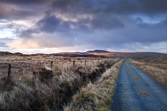 just a road in Donegal (hansbrasz) Tags: donegal ireland road sky bleu mountains landscape light clouds march cold