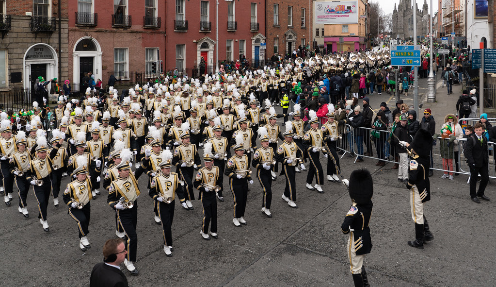 PURDUE ALL AMERICAN MARCHING BAND [DUBLIN PARADE 17 MARCH 2018]-137684