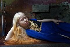 Namira (silvia.alessi) Tags: storytelling mumbai people portrait travel asia india ngc white hair albinism albino girl