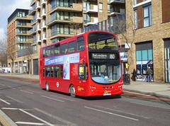 GAL WVL331 - LX59DDF - BERESFORD STREET WOOLWICH - FRI 17TH MAR 2018 (Bexleybus) Tags: beresford street woolwich town centre se18 go ahead goahead london wrightbus gemini volvo b9 tfl route 180 wvl331 lx59ddf