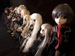Steampunk family (Lunalila1) Tags: doll groove steampunk eclipse taeyang pullip isul dal byul stock outfit gyro moirai eos rianhon apollo missionary helios aurora ramuw group family enok
