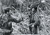 Laos US Recon Team member and Montignard ally create a LZ in Laos (ianbrown22) Tags: us recon team member montignard ally lz laos army marines soldier soldiers arvn nva viet cong vietnam war vietnamese south north patrol search jungle illegal incursion