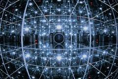 hypercube (Franck.Robinet) Tags: tecerract tesseract hypercube interstellar pov dof art canon mirror miroir reflet reflection reflections reflexion 3d 4d cube geometrie geometry octachore fisheye symmetry light night