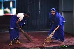 It's The Way You Hold It (N A Y E E M) Tags: women sweeper nanny candid colors morning street school cgs chittagonggrammarschool chittagong bangladesh windshield