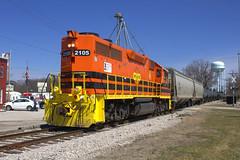 TPW 2105 West (BSTPWRAIL) Tags: tpw toledo peoria western railroad railway rail road way gw genesee wyoming manifest mixed freight train gp382 locomotive illinois washington