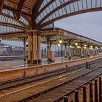 York: Railway platform at dawn. thumbnail