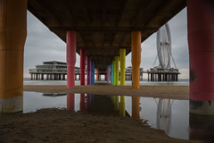 Scheveningen (izico90) Tags: scheveningen den haag the hague blackwhite long exposure nd filter sony a6000 sigma 16 mm 14 apsc netherlands holland pier reflection ferris wheel reuzenrad tripod breakwater stones pillars columns ocean sea horizon colors