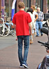 IMG_6849 (Skinny Guy Lover) Tags: outdoor guy man male jeans bluejeans walking nikes nikesneakers nikeairmax slender people