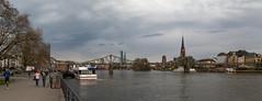 Panorama Eiserner Steg (jens.jakob) Tags: ffm frankfurt am main frankfurtammain panorama stadt city river clouds cloudy wide wideangle stitched