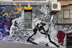 Heesco ACDC Lane 2018-04-02 (5D_32A0022) (ajhaysom) Tags: acdclane cherrybar albumcovers streetart graffiti melbourne australia canoneos5dmkiii canon1635l heesco