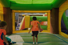 'Bounce Castle' (Canadapt) Tags: children inflatable castle bounce mesh screen colourful timmins canadapt