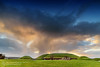 Knowth in the evening (mythicalireland) Tags: knowth monument megalithic evening sunset clouds sky setting sun dusk golden hour mound neolithic meath boyne valley