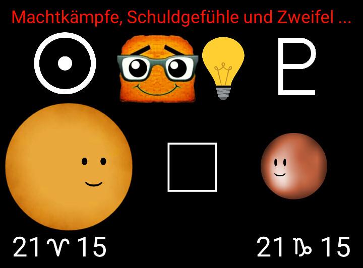 Sonne Quadrat Pluto