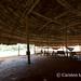 Under an embera roof