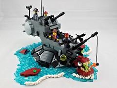 """Gamera"" Class Destroyer (Deltassius) Tags: da3 torpedo boat turtle ship dragon moc lego war military"
