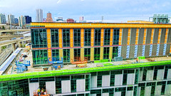 Construction Colors (creepingvinesimages) Tags: hww construction colors windows skyline green yellow portland oregon samsung galaxys7 pse14 topaz