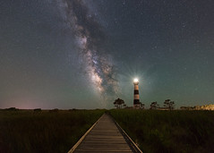 Path To The Stars (Mike Ver Sprill - Milky Way Mike) Tags: bodie light lighthouse north carolina nc obx landscape nature long exposure striped travel outer banks nightscape night sky explore path trail star stars milky way galaxy universe marsh astrophotography astronomy